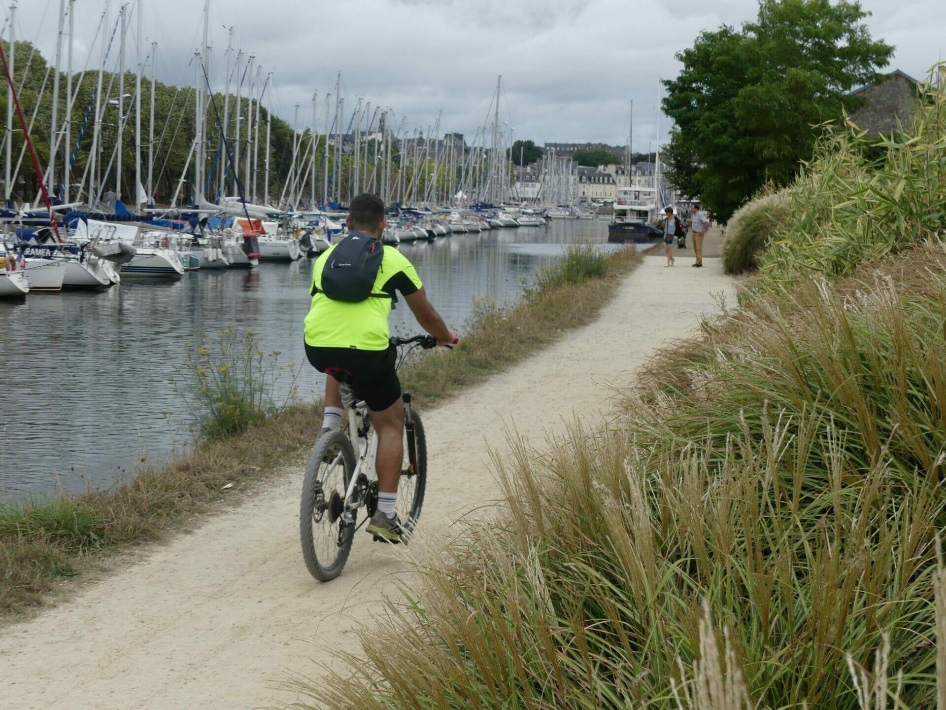 cycliste à Vannes
