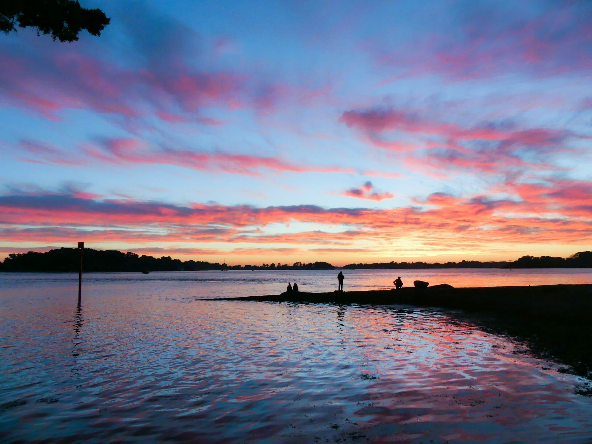 Coucher de soleil golfe du morbihan - Fond ecran coucher de soleil sur la mer ...