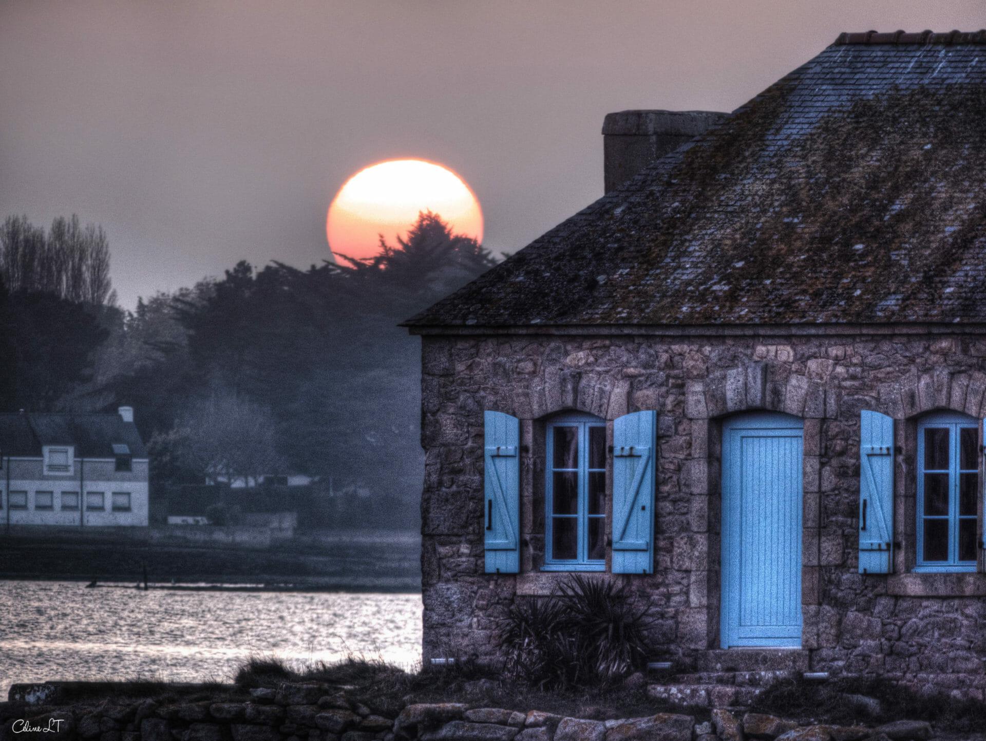 Saint-Cado et la maison aux volets bleus