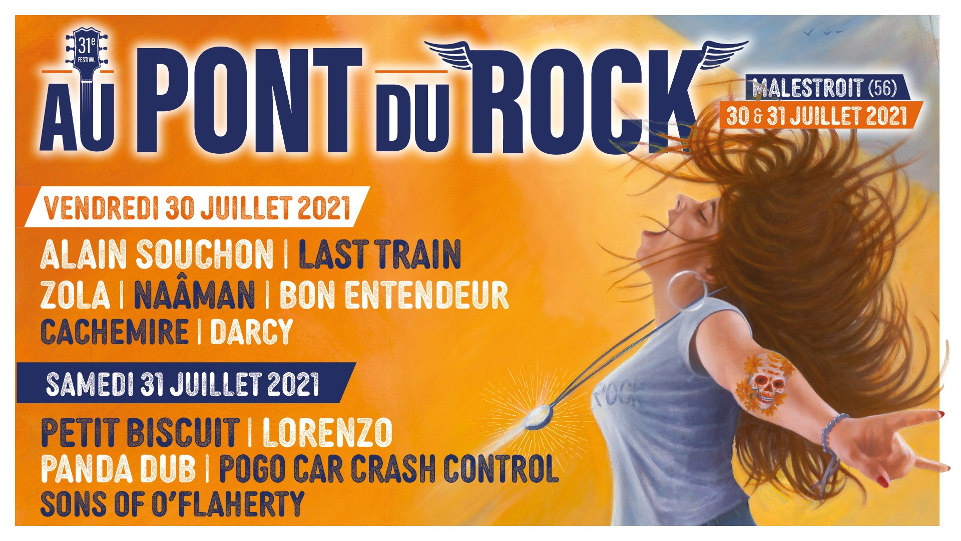 Festival Au Pont du Rock, 30 et 31 juillet 2021