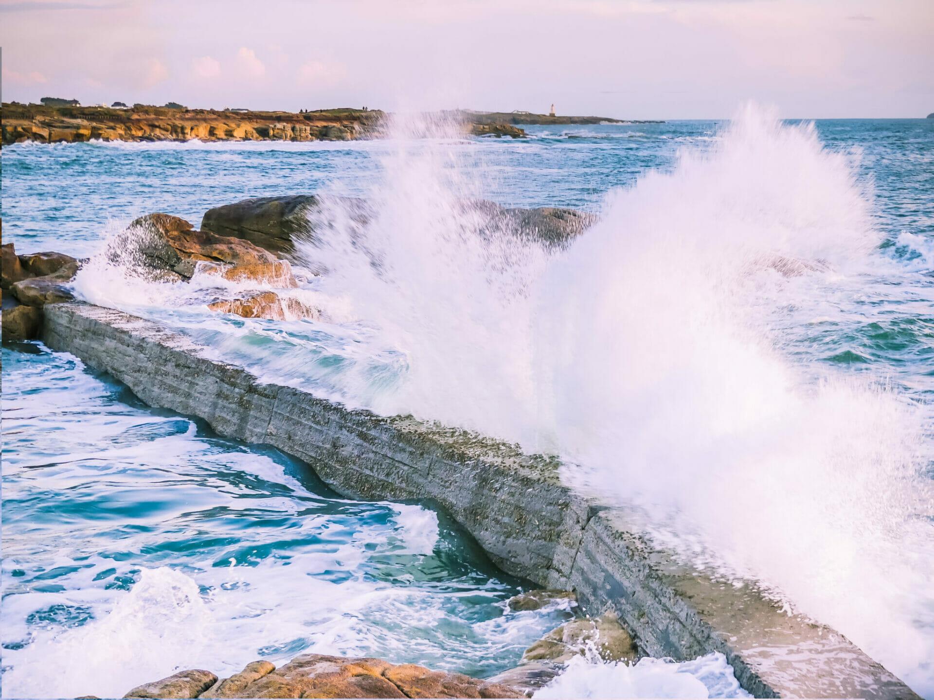 Grandes marées en Bretagne