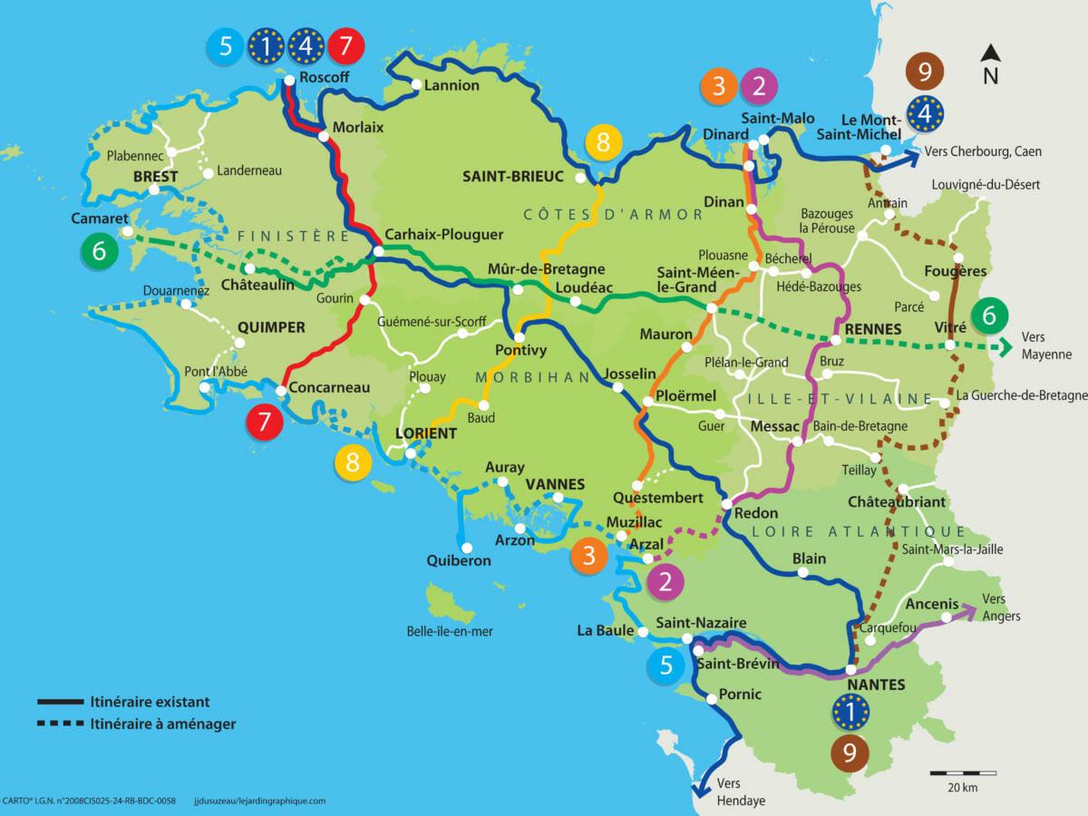 Découvrir les voies vertes en Bretagne